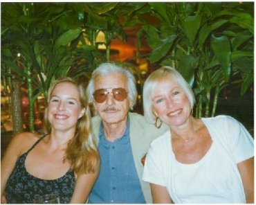 Susan Brainard with friend Oleg Cassini and Susan's daughter.