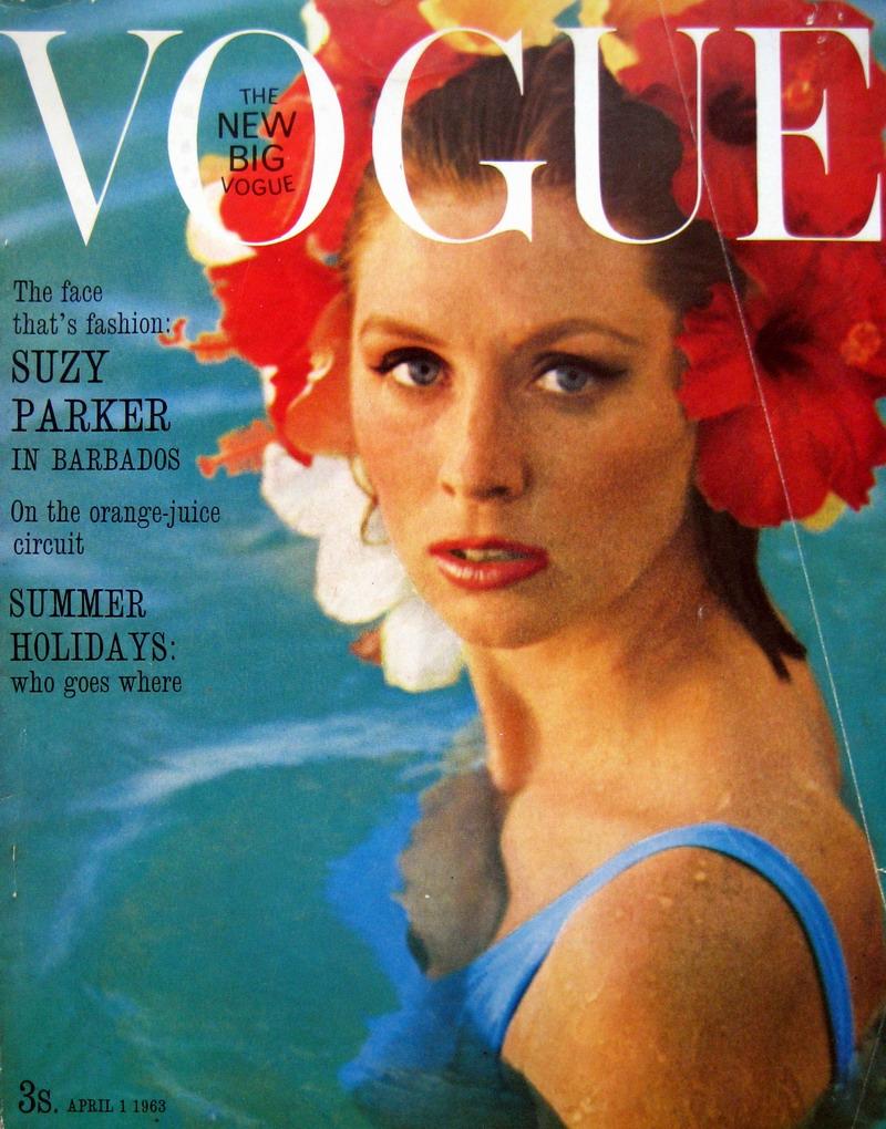 SuzyP_1963_Apr1_UKVogue_Cover_HenryClarke