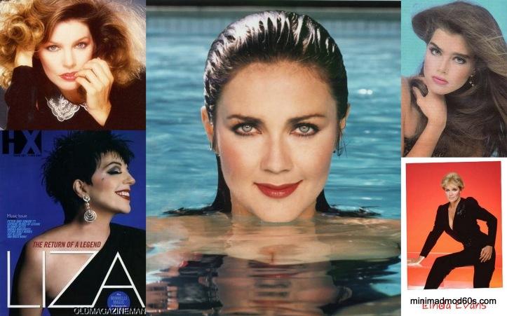 Priscilla Presley Lynda Carter, Brook Shields, Liza Minelli, Linda Evans