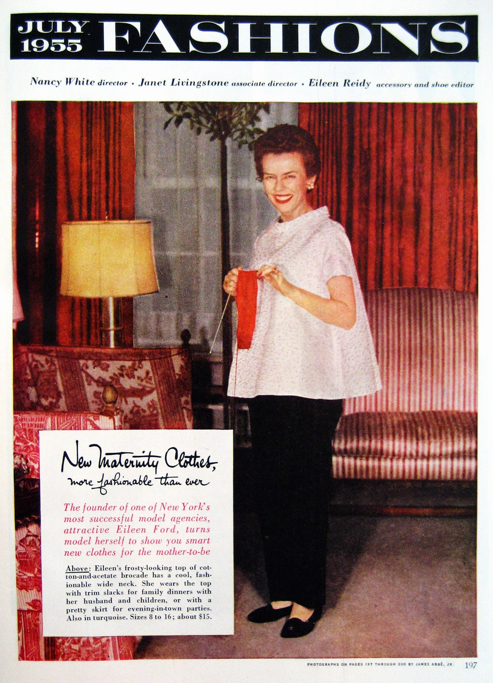 EileenFord_1955_July_GH_197_Maternity