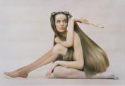 Model Veruschka Wearing Leg Makeup