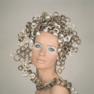 Veruschka Wearing Ringlet Headdress